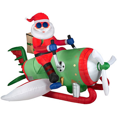 Chrismas inflatable military santa blowups